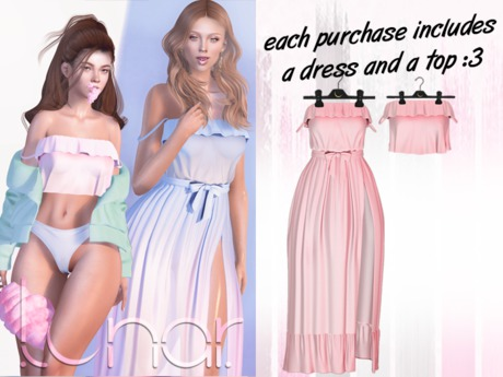 Lunar - Susy Top & Dress - Baby Pink