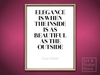 "Coco Chanel Quote | ""Elegance"" Poster 