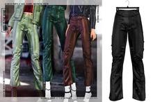 BOYS TO THE BONE glansig pants - black