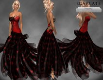 Ecarlate - Dress Gown Formal - Red L / Robe soiree Formelle - Pirouthy