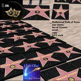 Hollywood Walk of Fame star slabs  set of 21(crate)