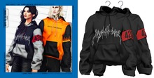 BOYS TO THE BONE tackt hoodie - black