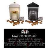 .:Short Leash:. Good Pet Treat Jar // White Version