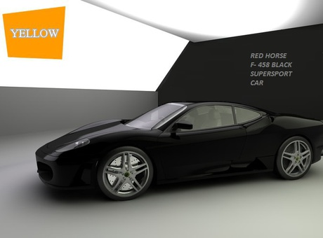 CAR Red Horse-F458 Black Edition