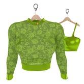 Genetic Bang Bang Sweater and Top (Maitreya) Lime