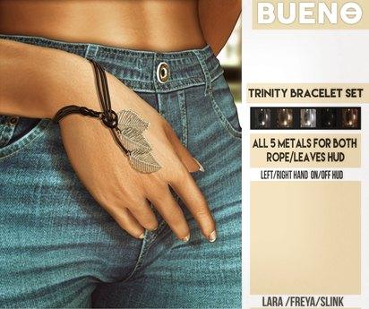 BUENO-Trinity Bracelet Set Fatpack - Maitreya, Slink HG, & Belleza Freya