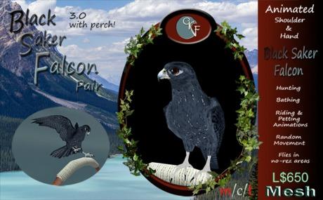 CKit Falconry Black Saker Falcon Pair v3.0