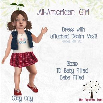 The Popcorn Tree - All American Girl dress & Vest