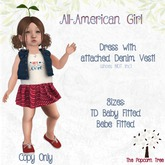 The Popcorn Tree - All American Girl dress & Vest