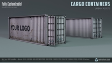 CARGO CONTAINERS (Custom KIT) [NeurolaB Inc.] Cyber Cyberpunk Sci-fi Decor
