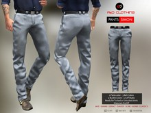 A&D Clothing - Pants -Simon- Steel