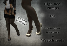 !!PF!! Kemono pump heels
