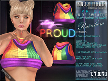 Bella Moda: Rainbow Pride Sweater - Maitreya/TMP/Physique/Hourglass/Isis/Venus/Freya+Std