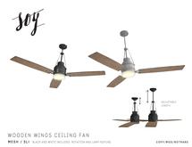 Soy. Wooden Wings Ceiling Fan [addme]