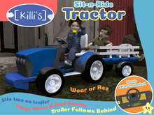 [Killi's] Sit-N-Ride Tractor - Blue (BOXED)