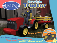 [Killi's] Sit-N-Ride Tractor - Red