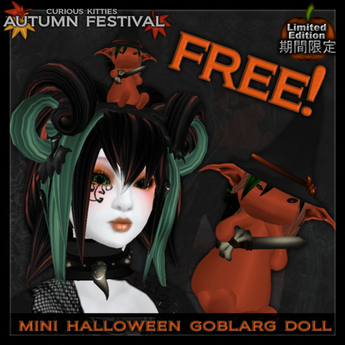 [FREE] =^.^= Curious Kitties - [Limited Edition] Mini Halloween Goblarg Doll