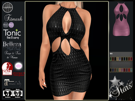 Stars - Maitreya, Tonic, Classic, eBody, TMP, Slink, Belleza - Candy dress