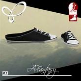 Afantasy FLAT SLINK Black & White Heeless Sneakers