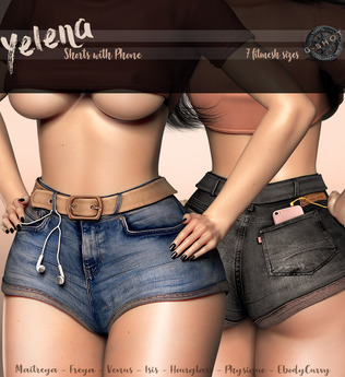[G-SHOT] YELENA Shorts with Phone {FATPACK}