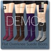 Blackburns Flat Overknee Suede Boots 6Sizes 8Colors DEMO