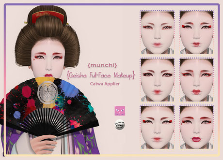 {munchi} Geisha Full-Face Makeup CATWA Applier