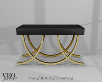 """VEO// Coffee table """"Gold and black"""""""