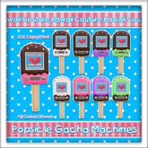 Kawaii Couture Popsicle Gacha Machine Chocolate Colors