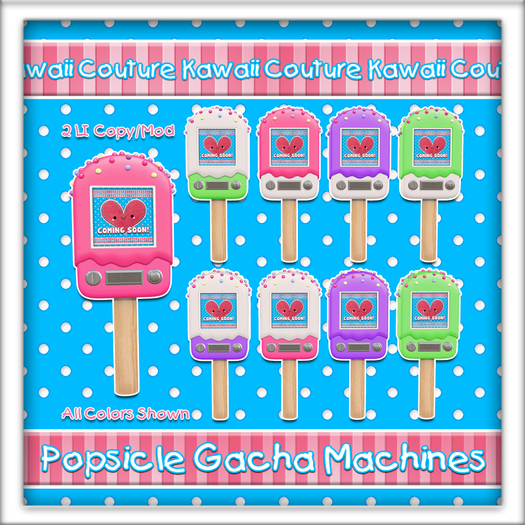 Kawaii Couture Popsicle Gacha Machine Candy Colors