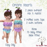 TPT - Ombre Hearts 2pc Swimwear Delivery