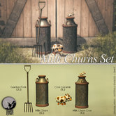 *PC* Milk Churns Set