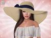 ♥ Natural Navy Summer Floppy Hat ♥