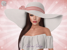 ♥ White Blush Summer Floppy Hat ♥