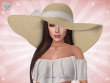 ♥ Natural White Summer Floppy Hat ♥
