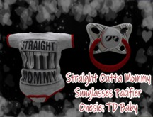 *KidTastrophe* Straight Outta Mommy Onesie and Pacifier>BOXED<