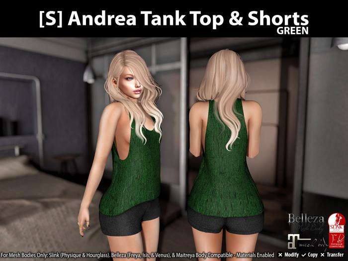 [S] Andrea Tank Top & Shorts Green