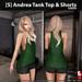 s  andrea tank top   shorts green ad