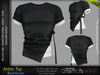 ANTON MALE TOP BLACK SINGLE COLOR- MESH - SIGNATURE GIANNI - GERALT, SLINK, BELLEZA JAKE - FashionNatic