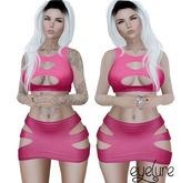 Eyelure Open Top & Skirt   Pink