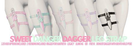 Spoiled - Sweet Danger Dagger Legstrap Fatpack