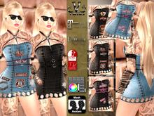V-Twins- Biker Clothes - Odyssey Biker Version **MESH Outfit [Mesh Bodies Compatible] Maitreya Slink Belleza