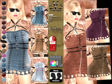 V-Twins- Casual Clothes - Odyssey Color Version **MESH Outfit [Mesh Bodies Compatible] Maitreya Slink Belleza