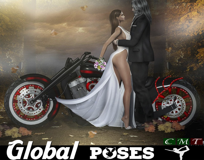 .:GB POSES 237:. Wedding Biker 05
