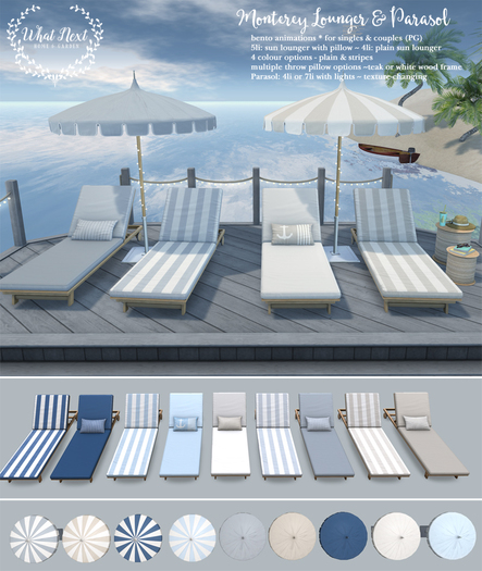 {what next} Monterey Loungers & Parasols Set
