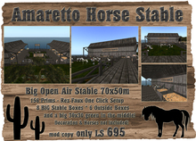 Amaretto Horse Stable - Barn - Stall - 70x50m