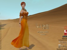 LUXE Paris TIGER'S EYE Gown