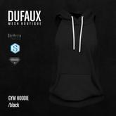 DUFAUX - gym hoodie - black