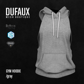 DUFAUX - gym hoodie - gray