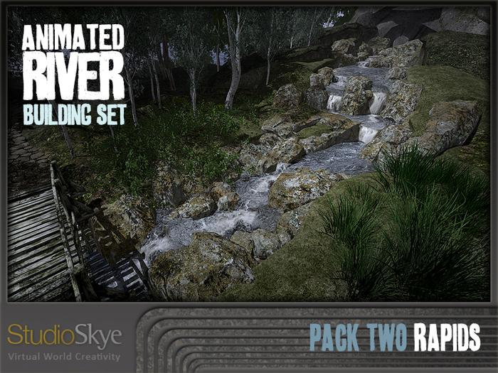 2 Skye Animated River Building Set - Pack 2 : River Rapids