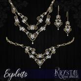 ::: Krystal ::: Exploits - Jewelry Set - Gold
